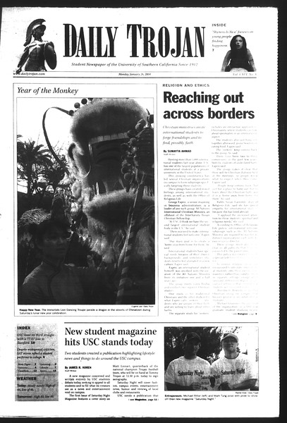Daily Trojan, Vol. 151, No. 8, January 26, 2004