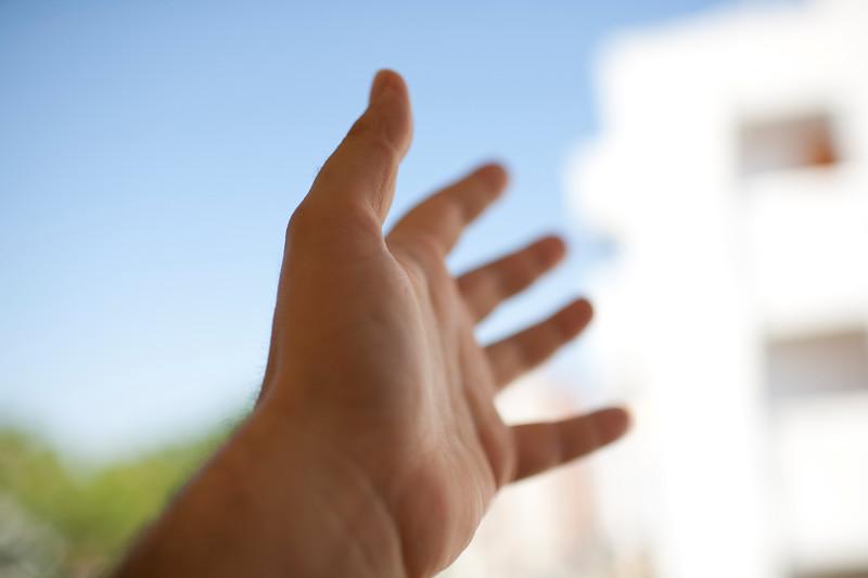 Man's hand, Seville, Spain