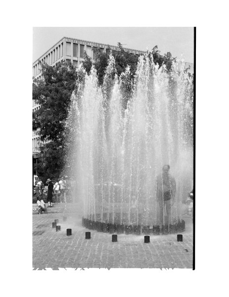 1983 Summer,DC March, MJ in Fountain.jpg