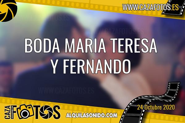 BODA MARIA TERESA Y FERNANDO - 24 OCTUBRE 2020