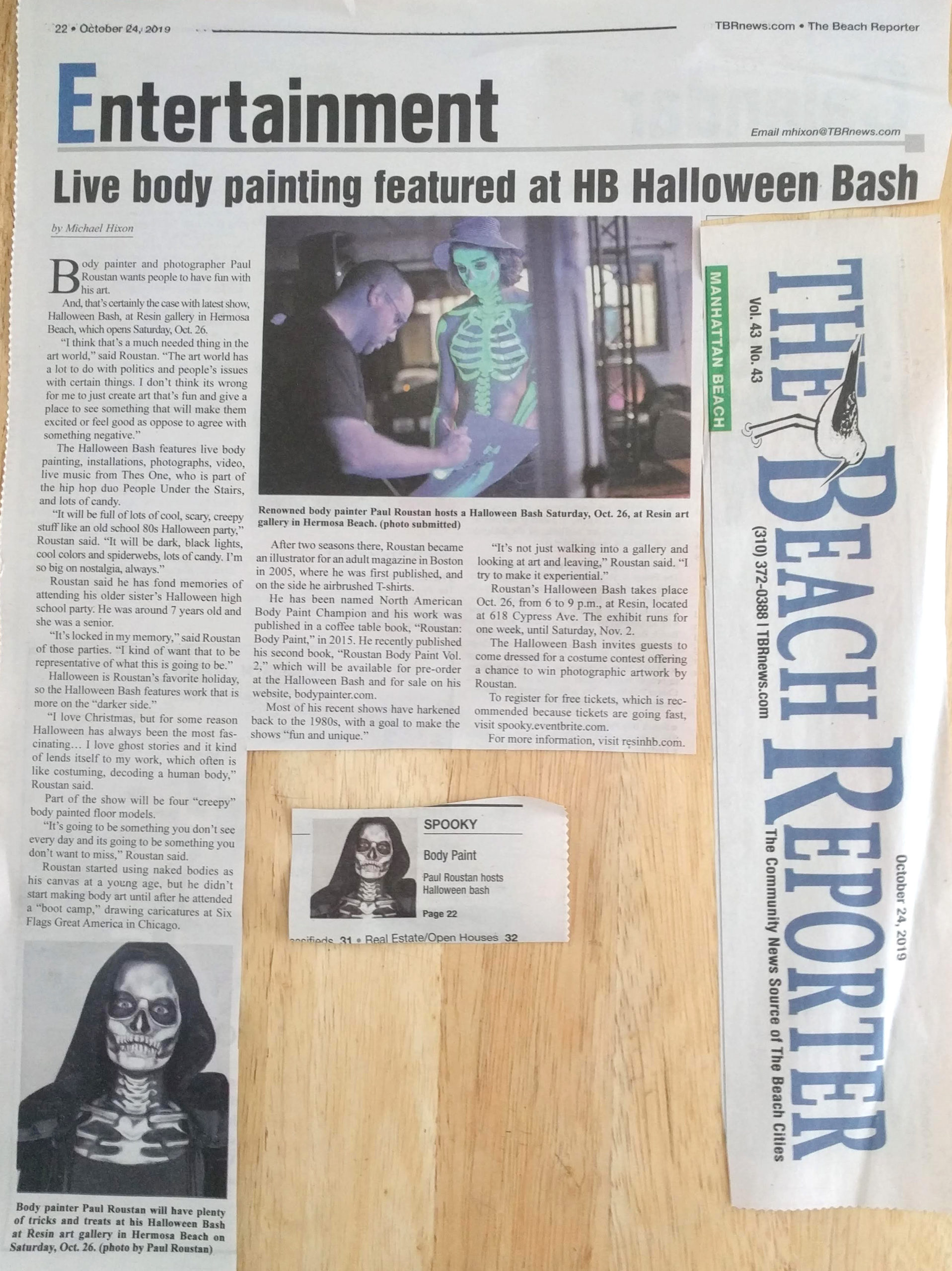 Paul Roustan Halloween Bash Feature in the Beach Reporter