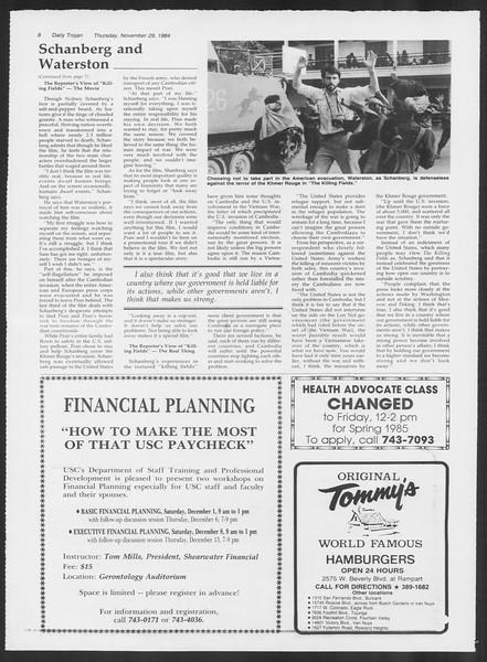 Daily Trojan, Vol. 97, No. 59, November 29, 1984