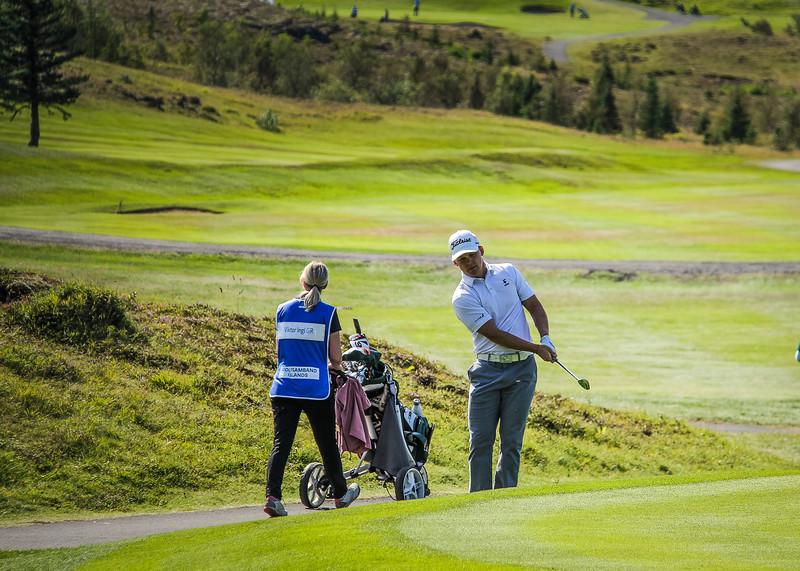 Björn Óskar Guðjónsson.  Íslandsmót golf 2019 Grafarholt - 1. keppnisdagur. Mynd: seth@golf.is