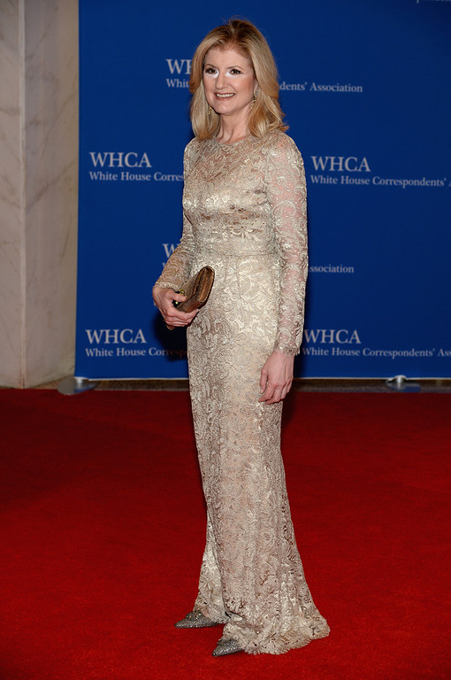 . Arianna Huffington attends the 100th Annual White House Correspondents\' Association Dinner at the Washington Hilton on May 3, 2014 in Washington, DC.  (Photo by Dimitrios Kambouris/Getty Images)