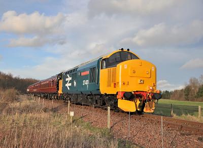37401 running day Bo'ness and Kinneil Railway. 22/03/14.