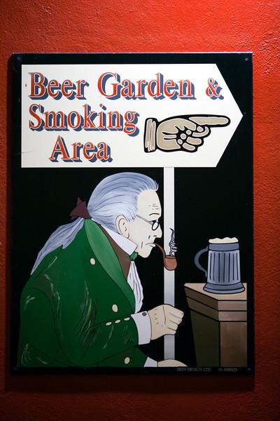 Sign of a pub, Dublin, Ireland