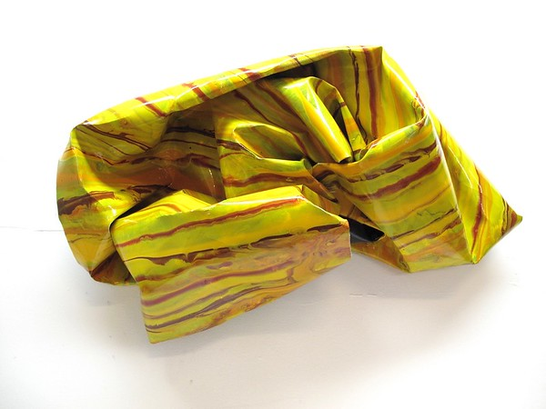 "Yellow Crumple by Iorillo, 14""x28""x12"""