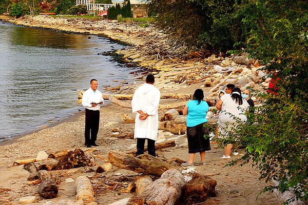 Baptism at Lakeside Beach 9-16-2020