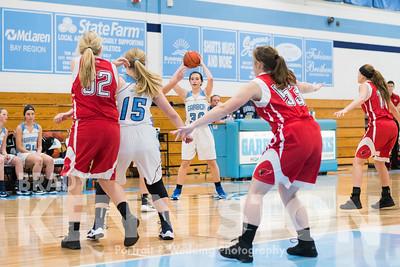 1-13-17 Garber JV Girls Basketball