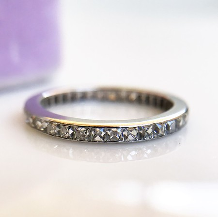 Art Deco French Cut Diamond Eternity Band