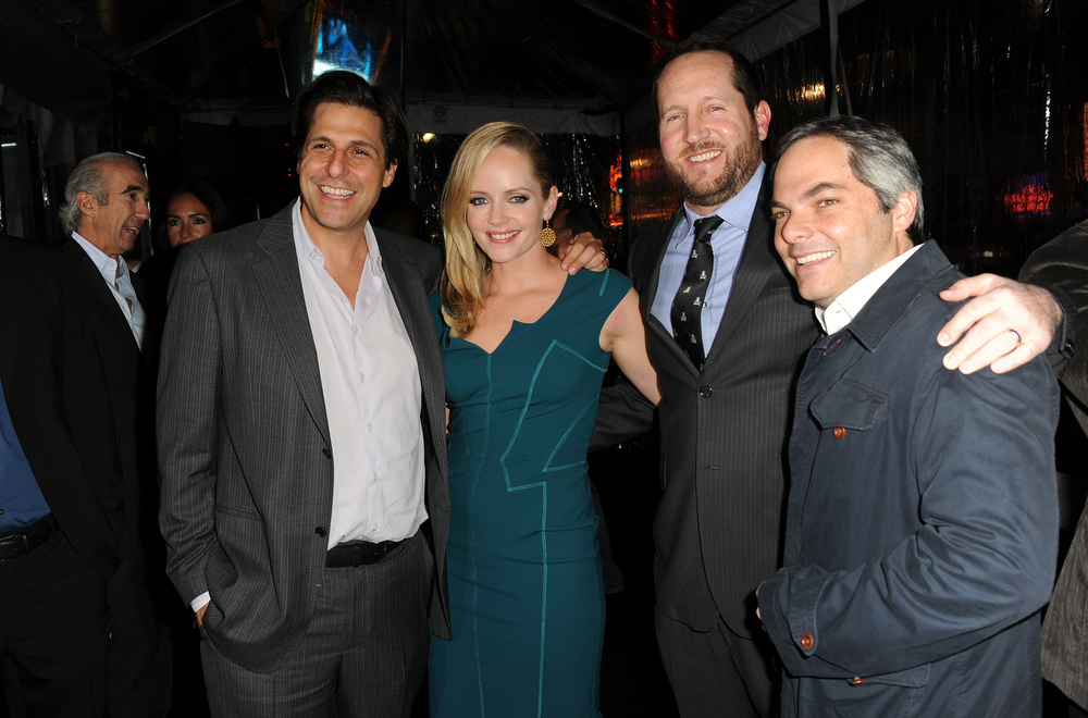 Description of . President of MGM Jonathan Glickman, actress Marley Shelton, producer Beau Flynn and President/ Paramount Film Group Adam Goodman arrive for the Los Angeles premiere of Paramount  Pictures'