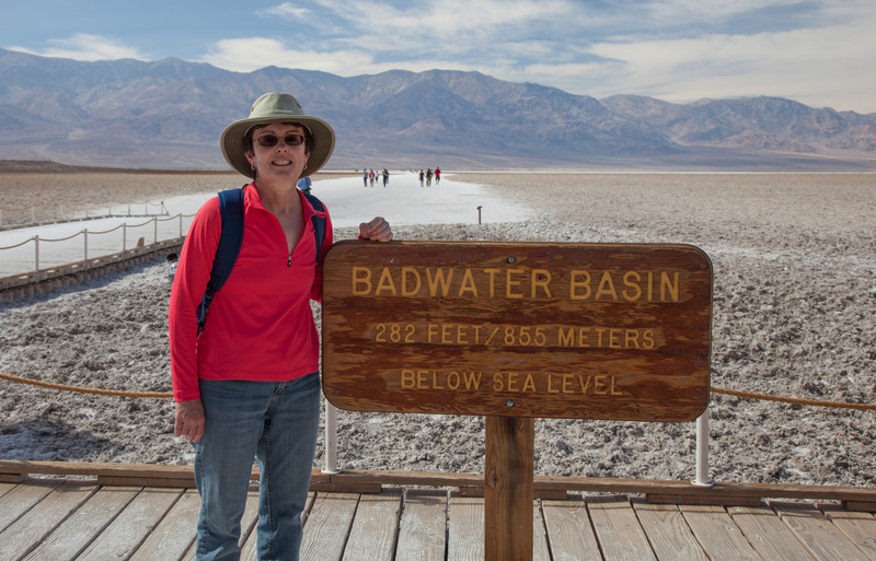 Tracy at Badwater Basin
