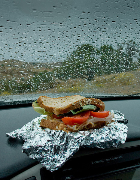Lunch in the rain
