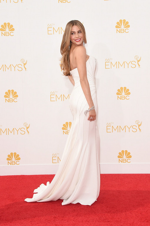 . Actress Sofia Vergara attends the 66th Annual Primetime Emmy Awards held at Nokia Theatre L.A. Live on August 25, 2014 in Los Angeles, California.  (Photo by Jason Merritt/Getty Images)