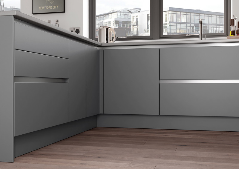Zola Matte Handleless - Dust Grey