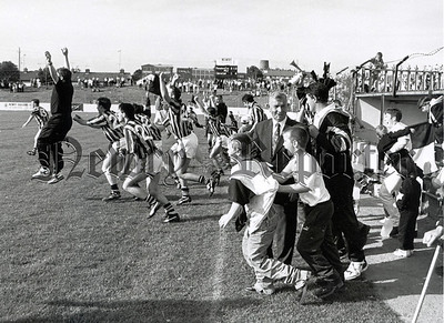 1996: Delight at the final whistle. RS9636113