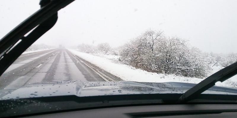 Snowy driving near Benson, AZ (Feb 2019)