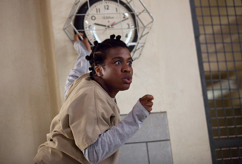 . Uzo Aduba in a scene from Netflix�s �Orange is the New Black� Season 2. (Jessica Miglio, Netflix)
