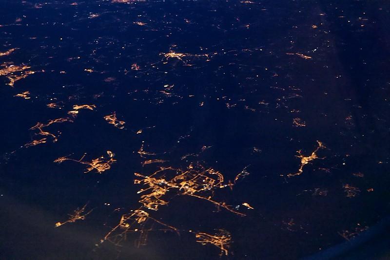 Portugalsko, město dole uprostřed je zřejmě Abrantes