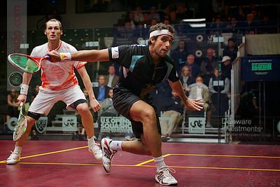 2012 U.S. Open Men's Quarterfinal: Gregory Gaultier (France) defeated Karim Darwish (Egypt)