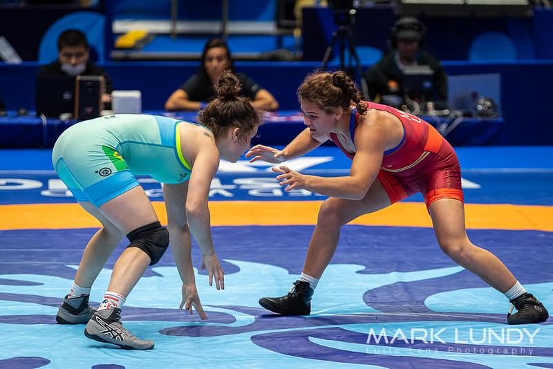 Champ. Round 2: Kayla Colleen Kiyoko Miracle (United States) over Lais Nunes De Oliveira (Brazil)  •  TF 15-4 - 2019 World Championships