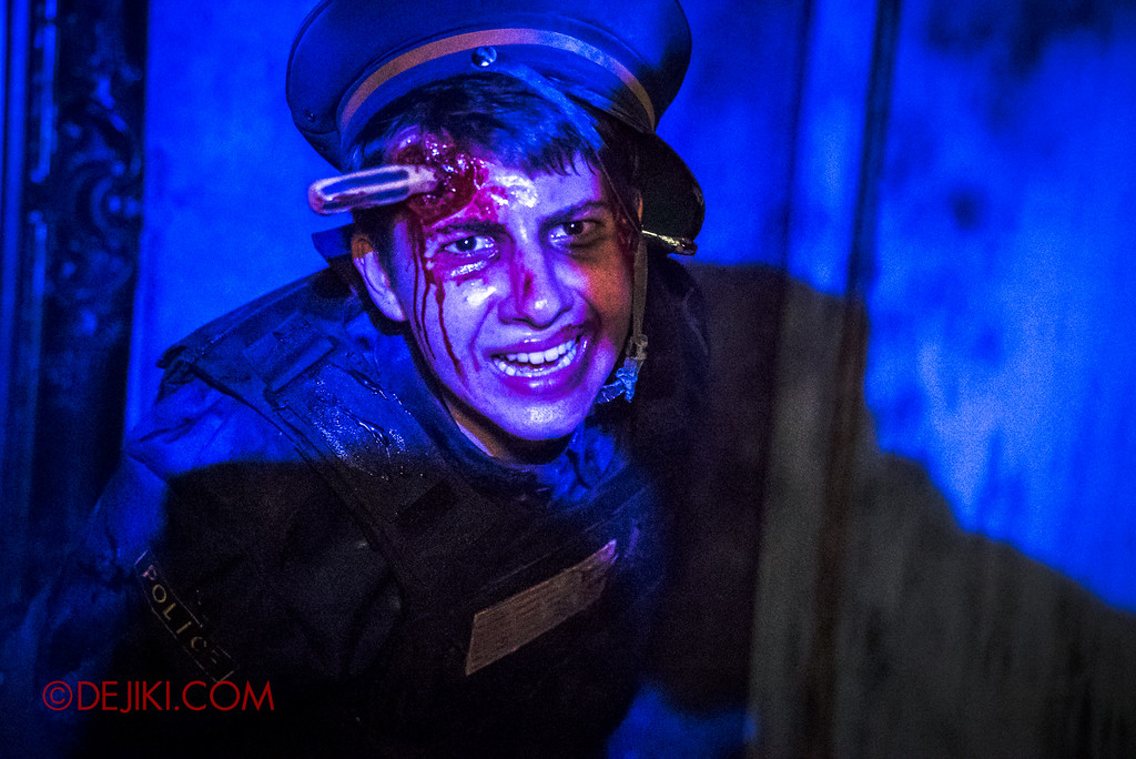 Halloween Horror Nights 6 - Bodies of Work / Shipman Gallery policeman close-up