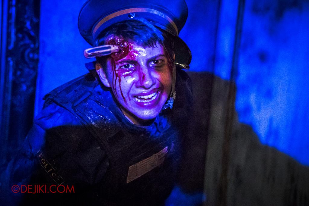 Halloween Horror Nights 6 - Bodies of Work / Shipman Gallery policeman close-up