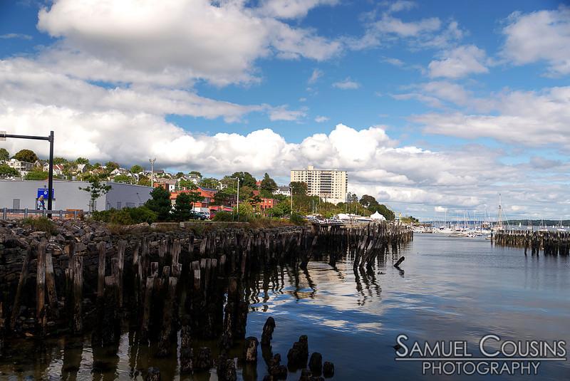 Old pilings near the Ocean Gateway.