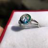 1.30ctw Old European Cut Diamond Emerald Target Ring 15