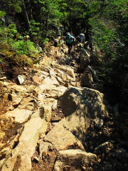 The trail was often steep and very rocky.