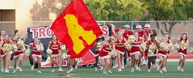 Troy Athens Varsity Cheer 2018 Sideline