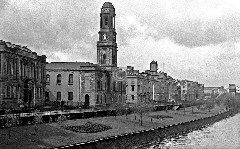Carlton Place from Victoria Bridge.   March 1973