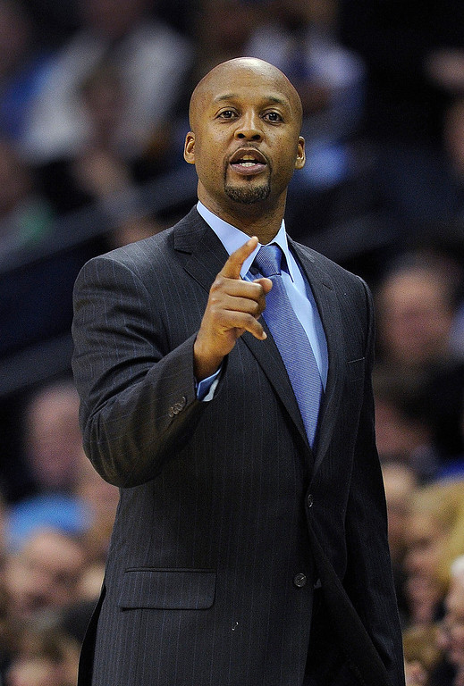 . Denver coach Brian Shaw made a point in the second half.  Photo By Karl Gehring/The Denver Post