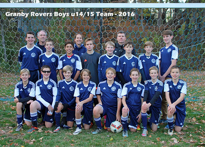 2016_10_30  Rovers U14/15 Season End Party