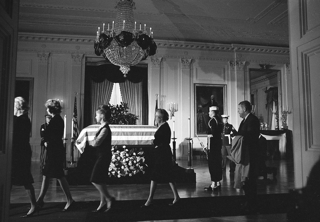 . Members of the White House staff file past the casket in the East Room of the Executive Mansion on   Nov. 23, 1963. Henry Burroughs, Associated Press file