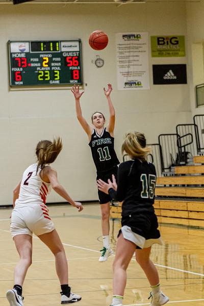 Holy Family Varsity Girls Basketball vs. Delano, 1/10/20: Captain Abbey Fink '20 (11)