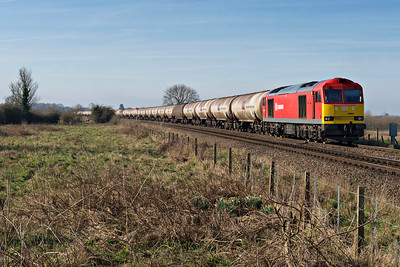 DB Class 60063 held at Wrawby Junc with Kingsbury to Lindsey empty oil tanks