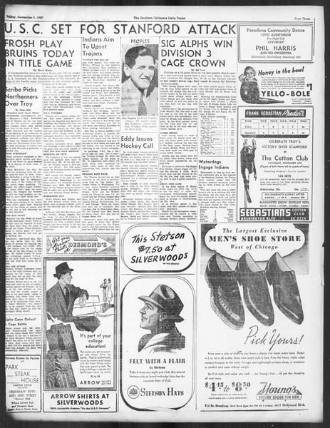Daily Trojan, Vol. 29, No. 35, November 05, 1937