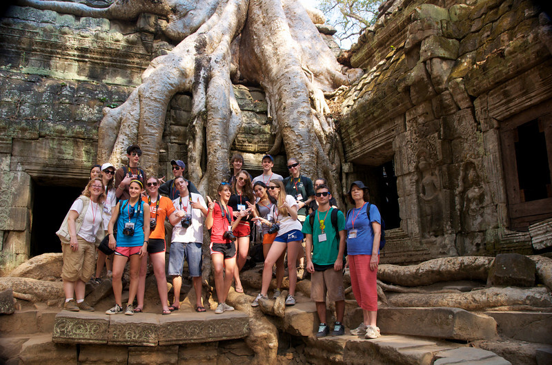 Latin School Photo Expedition Group 2009 at Ta Phrom