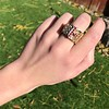 .38ctw Antique Diamond and Ruby Buckle Ring 15