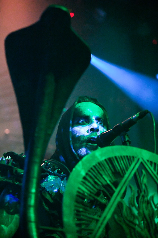 . Behemoth performs during their Blasfemia Amerika Tour stop in Englewood May 3, 2016 at the Gothic Theatre. (Photo By John Leyba/The Denver Post)