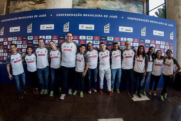 Apresentação da equipe olímpica de judô
