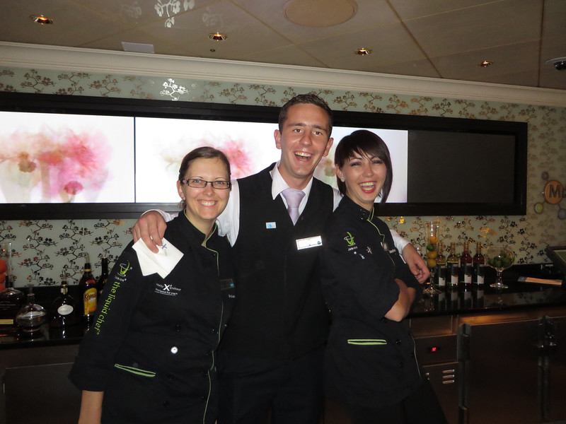 "Our talented bartenders Barbara, Luka and Jelena who created our savory cocktails each night at the Molecular Bar.......""Say Molecules!"""
