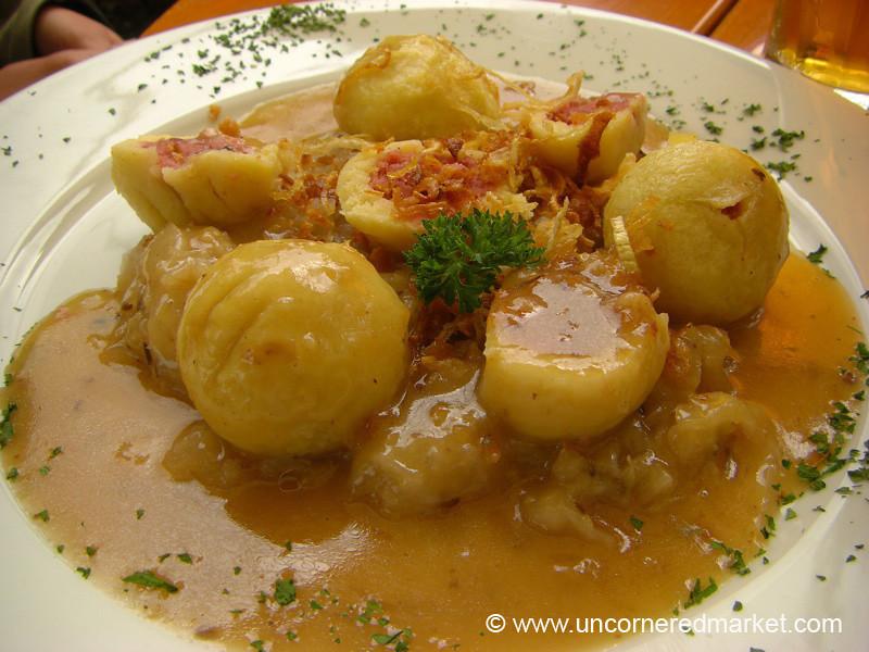 Czech Food, Stuffed Potato Balls - Prague, Czech Republic