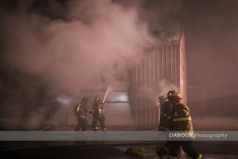 Greenwich DPW Fire March 1, 2016