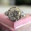 2.23ct Old European Cut Diamond Edwardian Solitaire GIA I VS1 15
