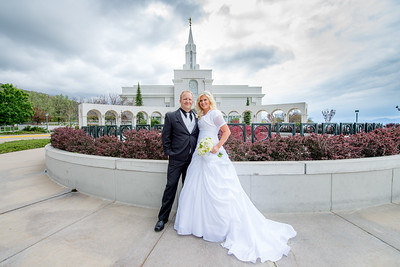 Rachel and Bryce Bountiful Temple