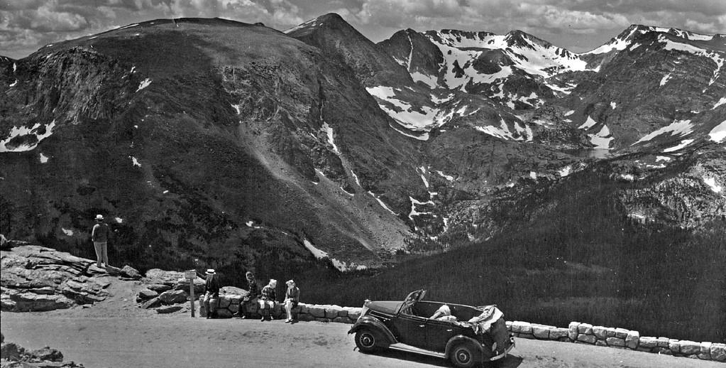 . Trail Ridge Road, Rocky Mountain National Park, Colorado, 1942. (Denver Post Library photo archive)