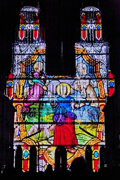 Cathedrale d'Orleans - épopée Jeanne d'Arc - videomapping