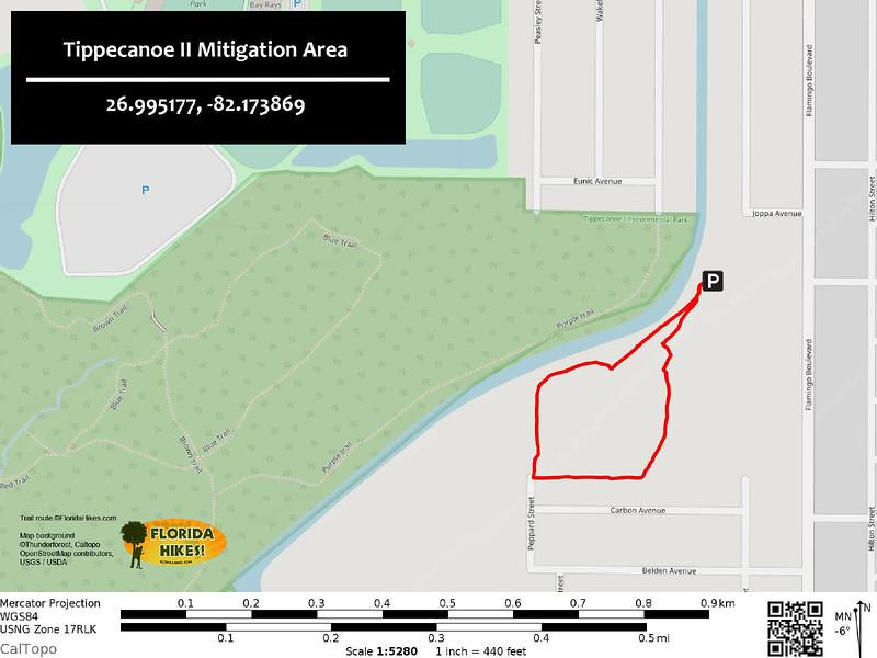 Tippecanoe II Mitigation Area Trail Map